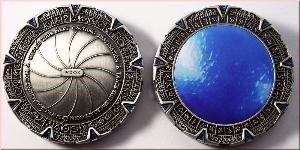 Antique Silver Space Gate Geocoin
