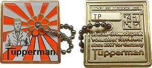 Tupperman Geocoin Poliertes Gold