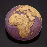 Global Nomad Geocoin - Purple/Pearl