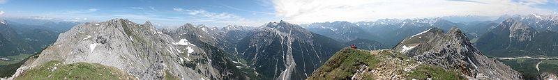 Panoramabild Karwendel