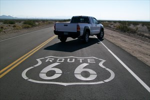 kyot's toy truck on Route 66