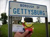 Spongebob traveling through Gettysburg, PA