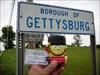 Spongebob traveling through Gettysburg, PA