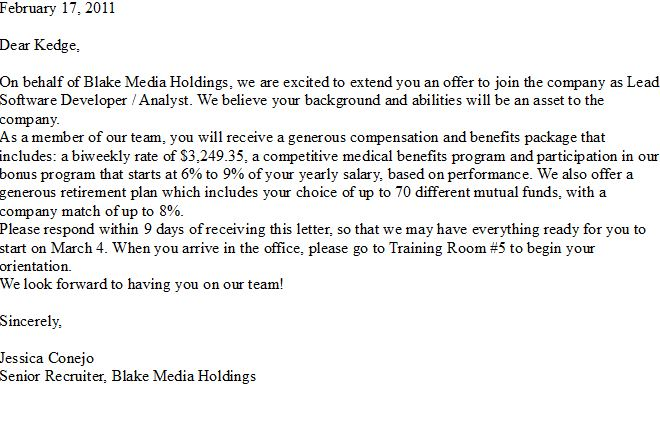 good news this offer letter just arrived in my email box i have a job check it out