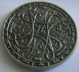 Tengwar Geocoin - Antique Silver