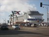 Nearby cruise ship
