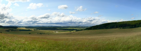 Panorama z louky Na Schodech
