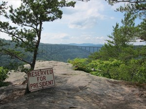 Reserved Parking at Long Point New River Gorge, WV