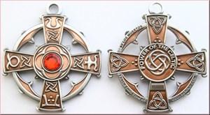 Raith Gras Geocoin Antique Copper/Silver- Red