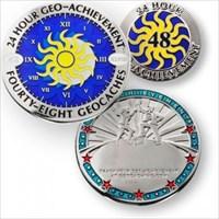 Geo-Achievement 24 Hours 48 Caches Geocoin