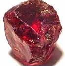 reddish-purple pyrope