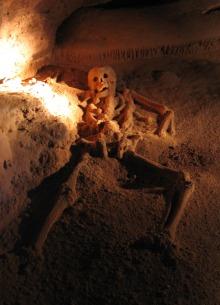 Mayská oběť z jeskyně Actun Tunichil Muknal