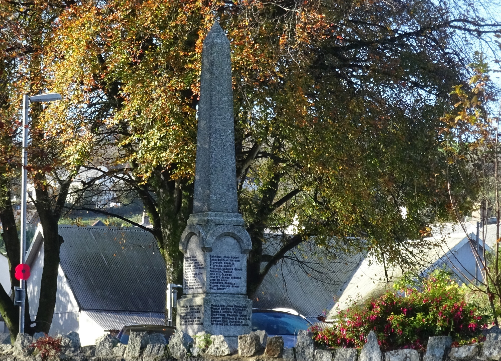 View of the war memorial