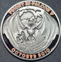 Fright in Falcon V (2010) Geocoin