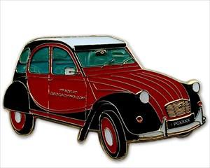 2CV Charleston schwarz-rot