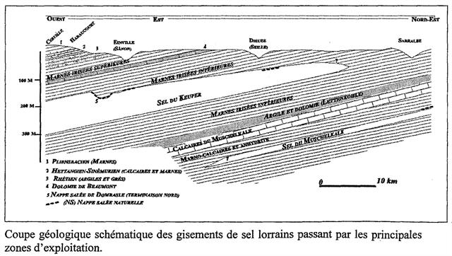 Coupe géologique schématique