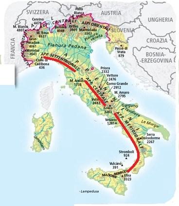 Cartina Montagne Nord Italia.Le Alpi E Gli Appenini Imparo