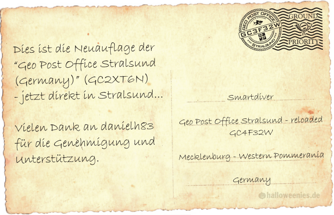 Postkarte Geo Post Office Stralsund (Germany)