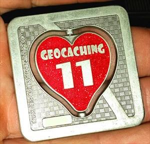 11 Years of Geocaching Geocoin