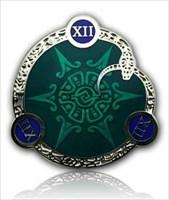 12-12-12 Geocoin Polished Silver Emerald LE