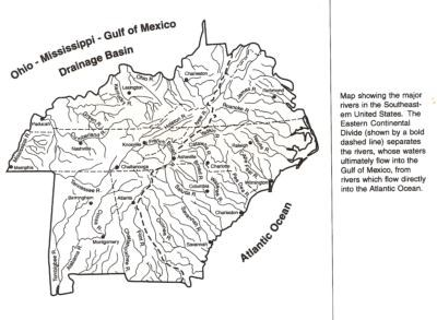 GCKGB Blue Ridge Parkway Eastern Continental Divide EC - Us continental divide map