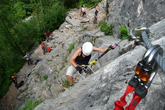Klettersteig Zahme Gams : Gc3p4bh klettersteig cache zahme gams traditional in