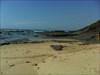 A extensa praia