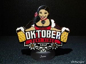 Oktoberfest Geocoin - Jenn
