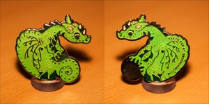 Baby Dragon Cache Slayer Geocoin