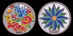 Wildflowers 2009 Geocoin - Polished Nickel
