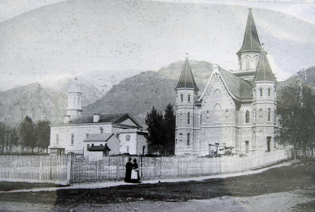 Old tabernacle on the left.