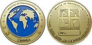 World of Geocaching Geocoin