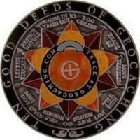10 Good Deeds of Geocaching Geocoin