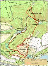 Mapa prírodní rezervace Divoká Šárka