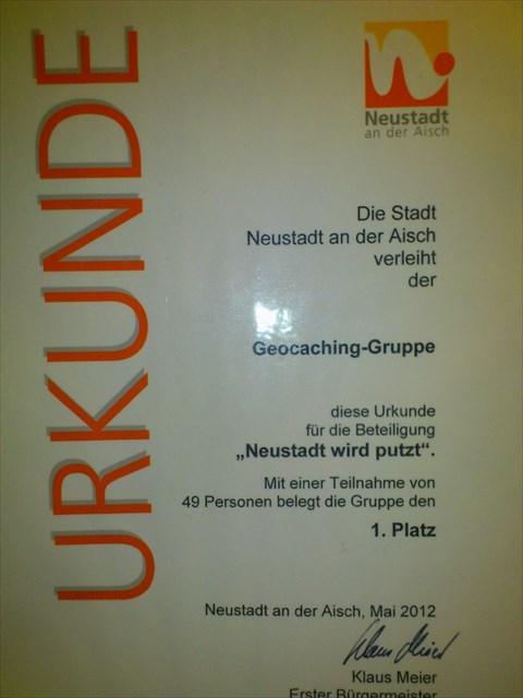 Urkunde 1. Platz