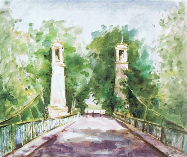 Aquarell der Argenbrücke