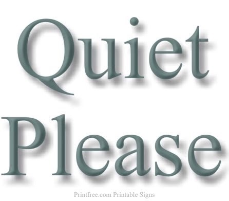 picture regarding Printable Quiet Signs titled GC1WKCX Relaxed Be sure to (Classic Cache) in just Alabama, United