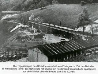 Südfeld: Tagesanlagen und Erzsilo