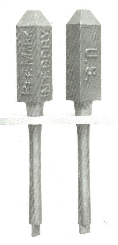 (Photo of steel Range Mark)