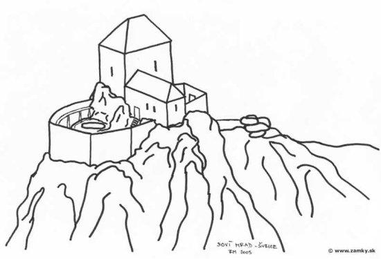 Sovi hrad - nacrt