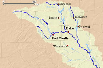 GCFCC Weird Trinity Earthcache In Texas United States - Longest river in us