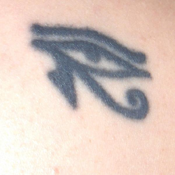Mrs. Superpallo's Eye of Horus tattoo