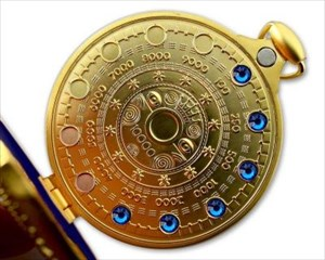 Pocket Cache Counter Geocoin Satin Gold BLAU XLE 7