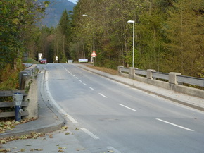 Fahrtrichtung Gnadenwald / Driving direction Gnadenwald