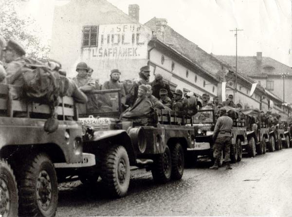 9. peším pluk 2. peší divize v Kdyni