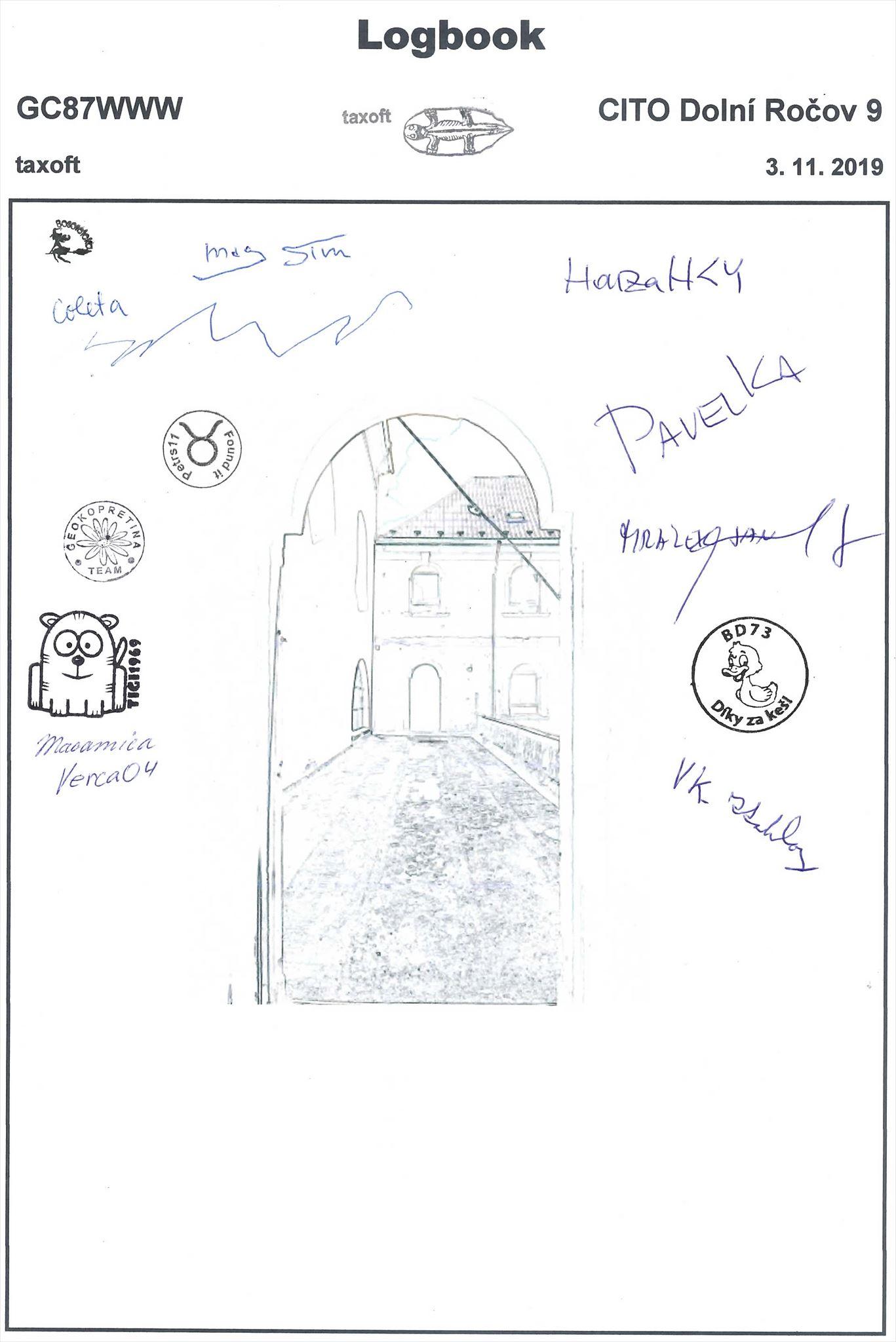 GC87WWW - CITO Dolní Ročov 9 - logbook