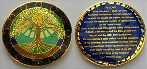 23rd Psalm Geocoin All is Well RE 50