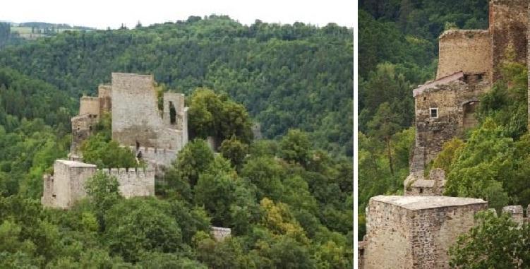 I po staletích působí Cornštejn jako monumentální pevnost.