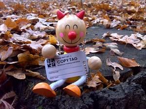 SchutzTeufel im Herbstlaub vor seinem Start
