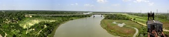 "Click to view ""Cedar Bayou panorama - view to the north"